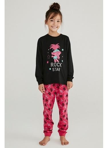 Penti Kız Çocuk Çok Renkli Trolls Rock Star 2'li Pijama Takım PNDM1VOU20SK Renkli